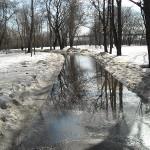снег с водой